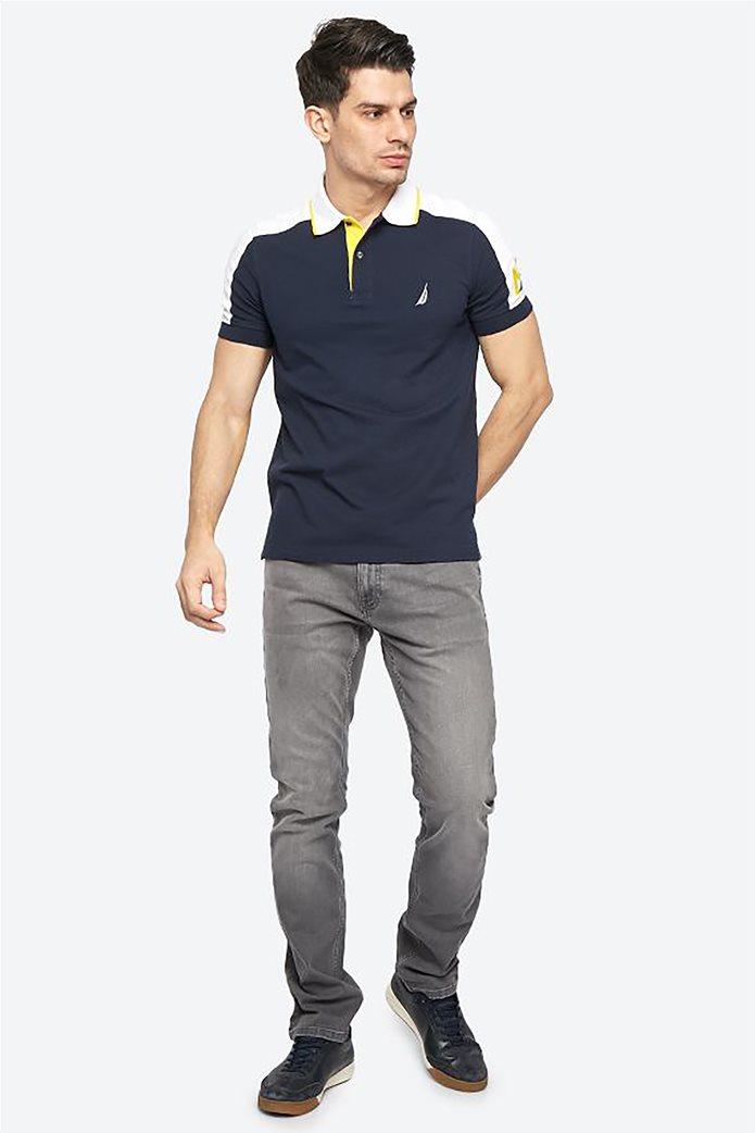 Nautica ανδρική μπλούζα πόλο με κεντημένο λογότυπο 1