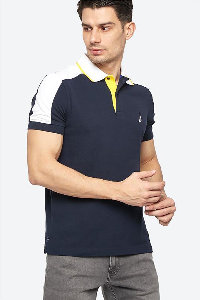 Nautica ανδρική μπλούζα πόλο με κεντημένο λογότυπο 2