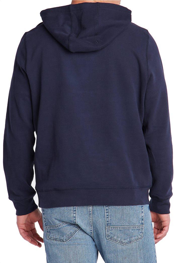 Nautica ανδρική μπλούζα φούτερ με κεντημένο logo  και κουκούλα 1