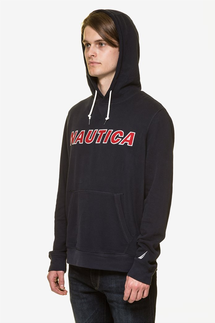 Nautica ανδρική μπλούζα φούτερ με κεντημένο logo  και κουκούλα 2