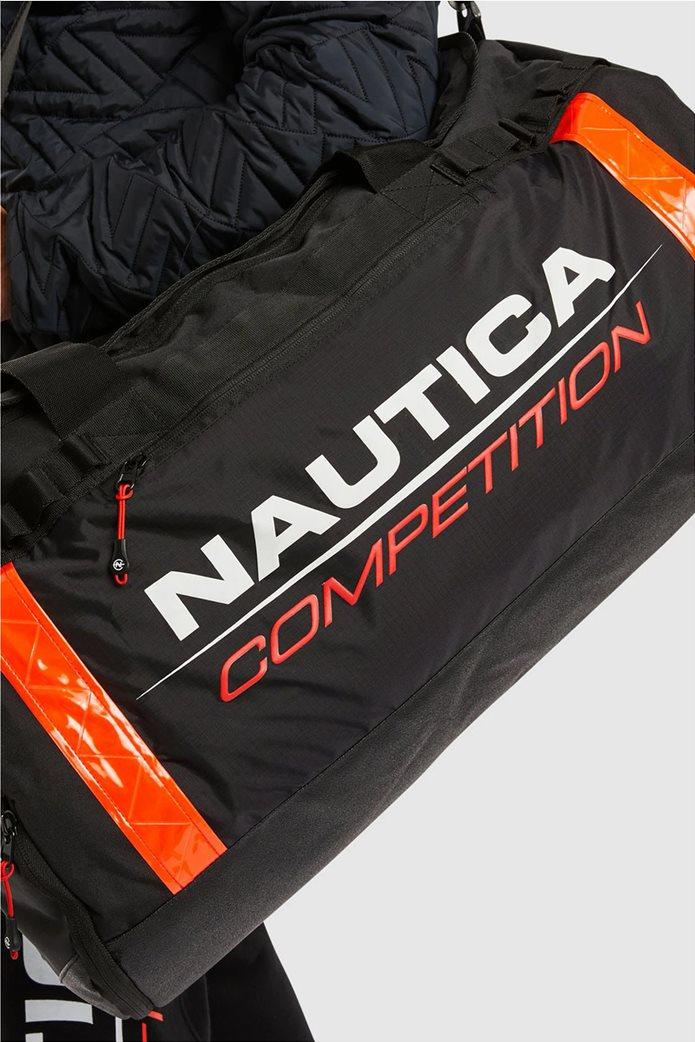 Nautica ανδρικό σακ βουαγιάζ με logo print ''Valdez'' 0