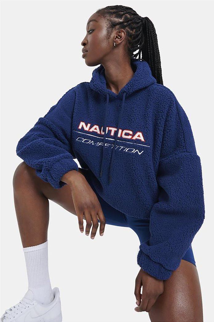 Nautica γυναικεία φούτερ μπλούζα fleece με κεντημένο λογότυπο Μπλε 1