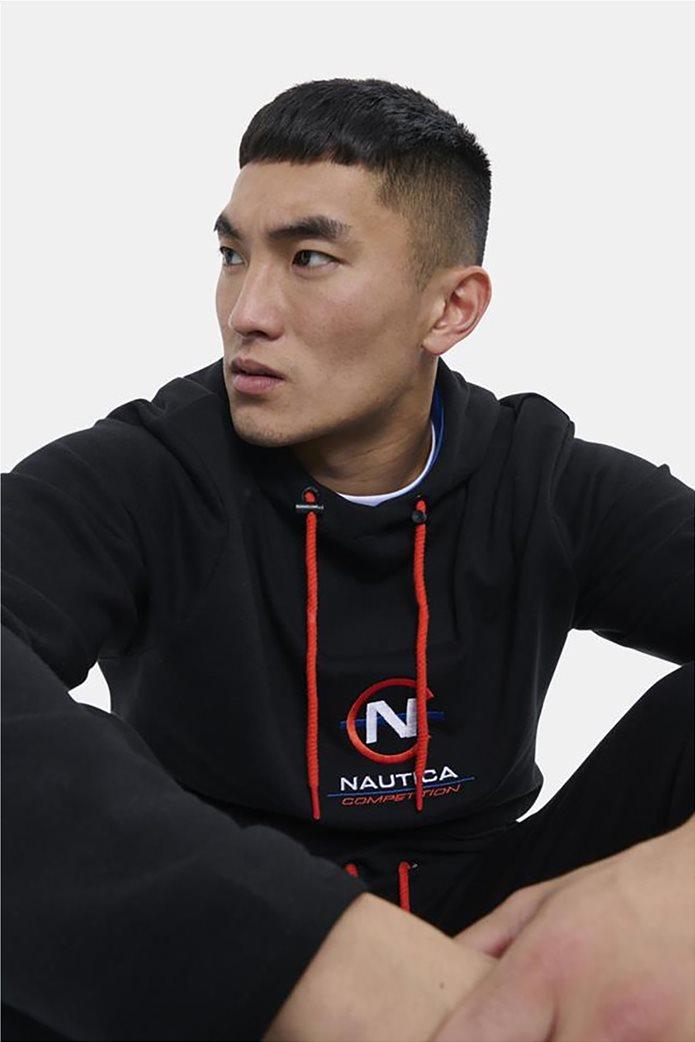 Nautica ανδρική φούτερ μπλούζα με κουκούλα και κεντημένο λογότυπο Μαύρο 1