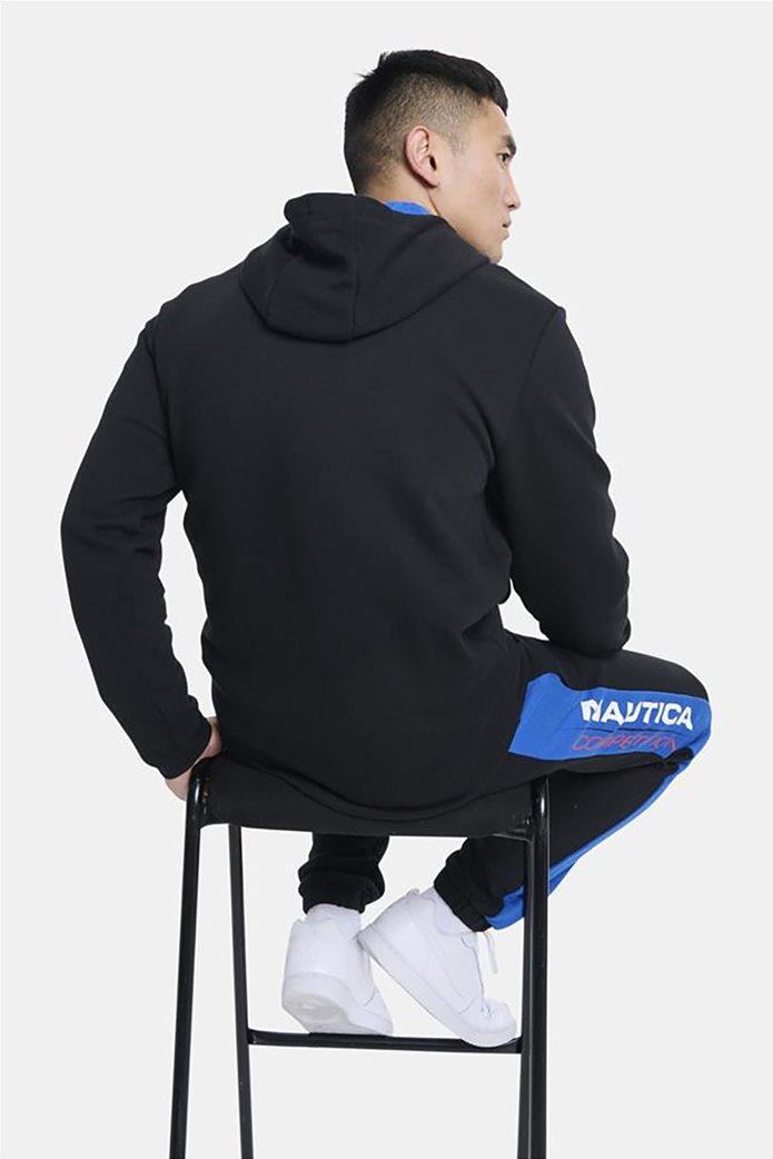Nautica ανδρική φούτερ μπλούζα με κουκούλα και κεντημένο λογότυπο Μαύρο 3