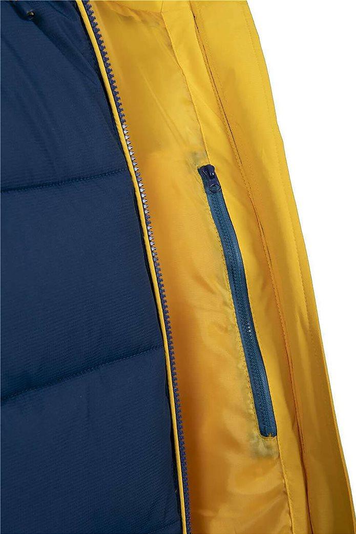 Nautica ανδρικό μπουφάν με καπιτονέ σχέδιο και κουκούλα Μπλε 4