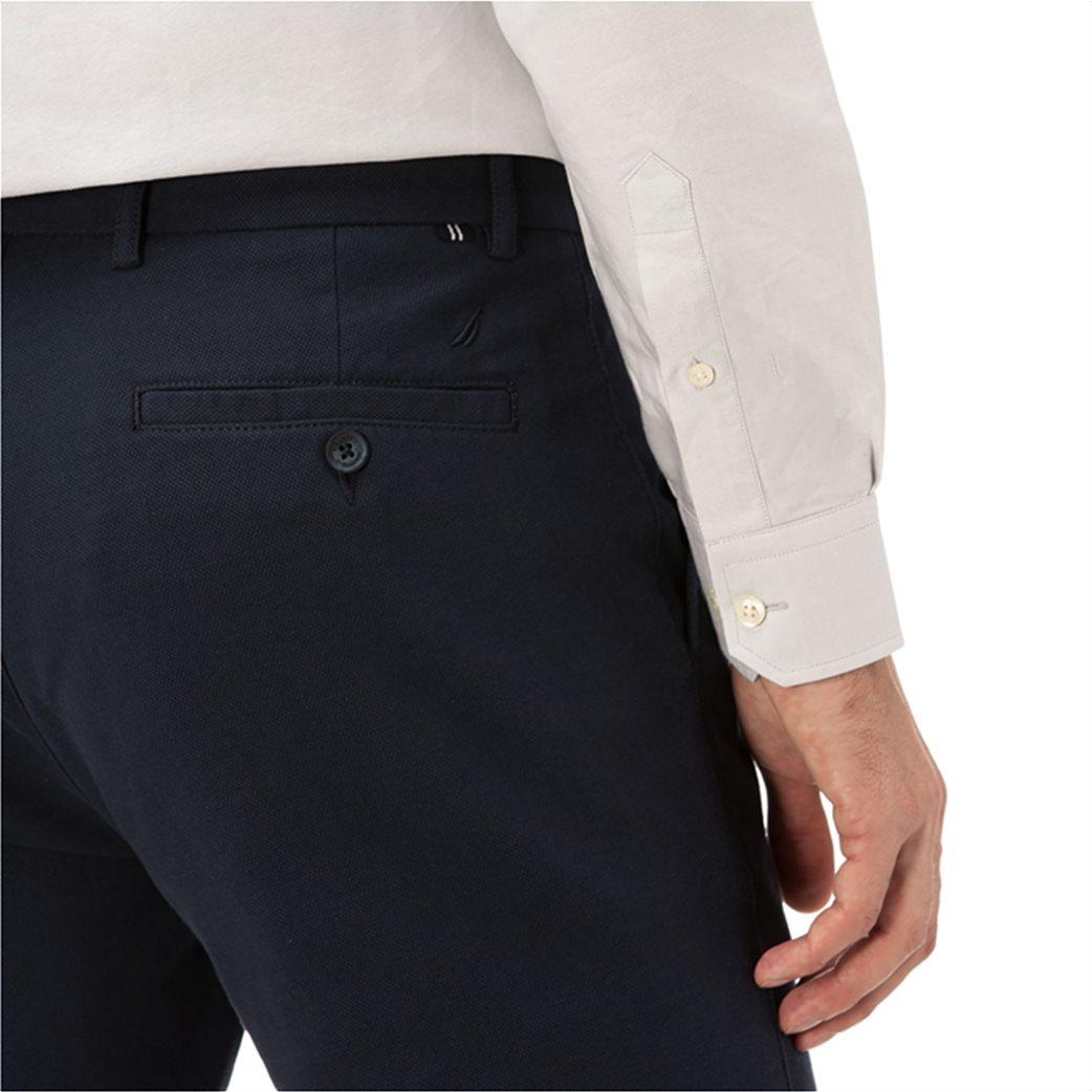 Nautica ανδρικό παντελόνι μονόχρωμο slim fit 3