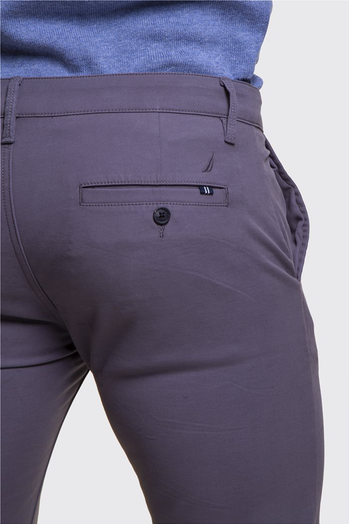 Nautica ανδρικό chino παντελόνι μονόχρωμο Slim 2