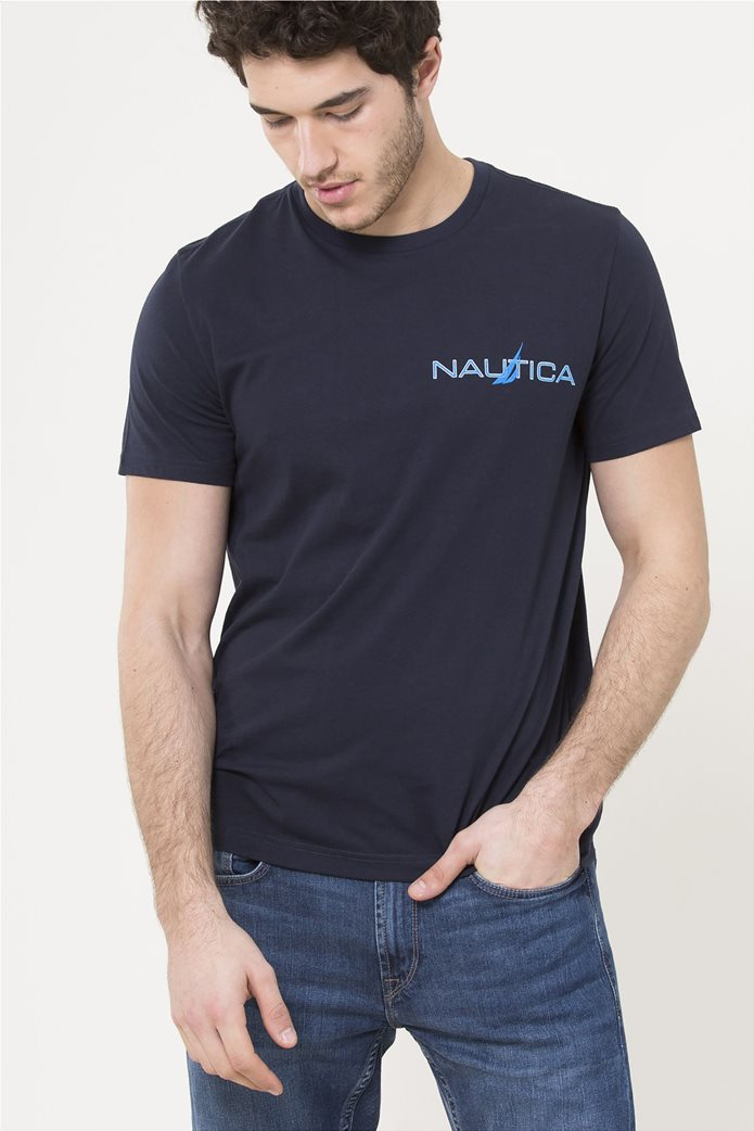 Nautica ανδρικό T-shirt με logo print 0