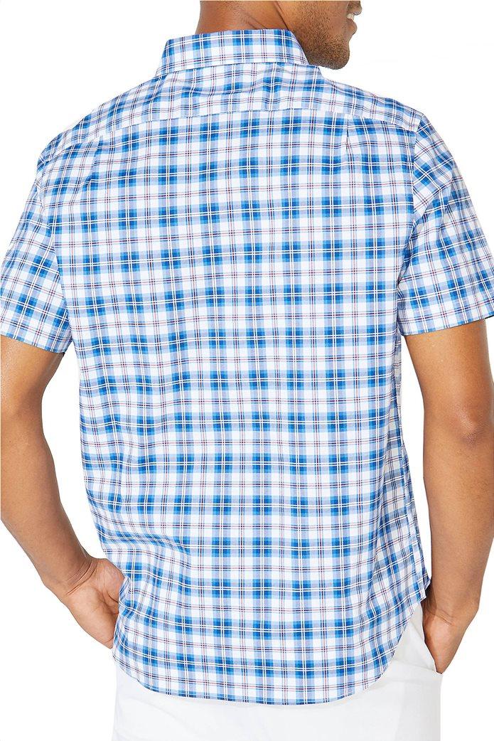Nautica ανδρικό κοντομάνικο πουκάμισο καρό με τσέπη Γαλάζιο 1