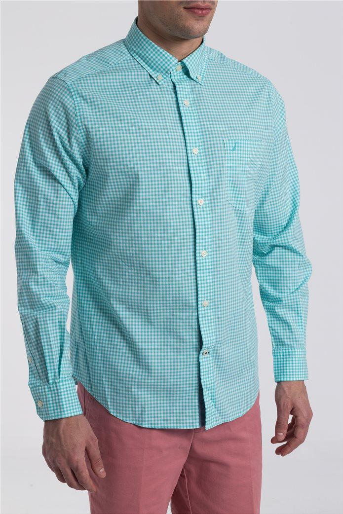 Ανδρικό καρό πουκάμισο Nautica 3