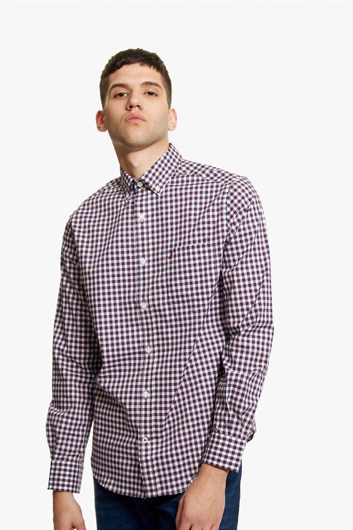 Νautica ανδρικό καρό πουκάμισο με μακρύ μανίκι 1