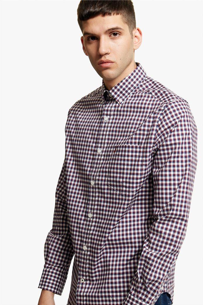 Νautica ανδρικό καρό πουκάμισο με μακρύ μανίκι 2