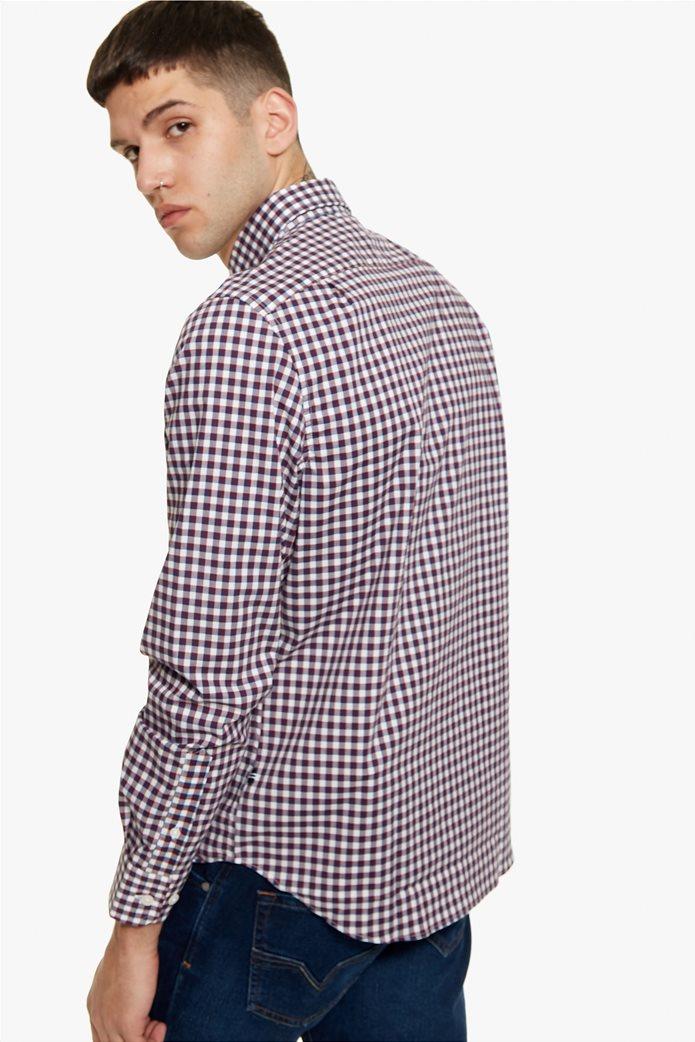 Νautica ανδρικό καρό πουκάμισο με μακρύ μανίκι 3