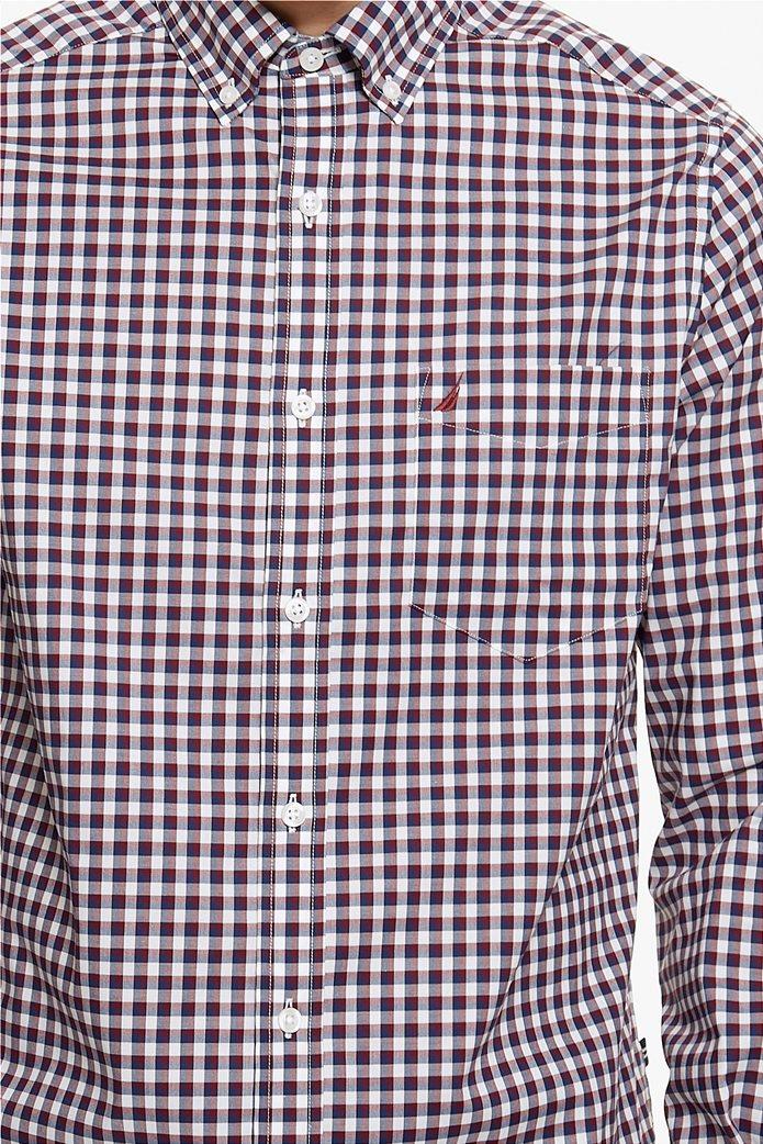Νautica ανδρικό καρό πουκάμισο με μακρύ μανίκι 4