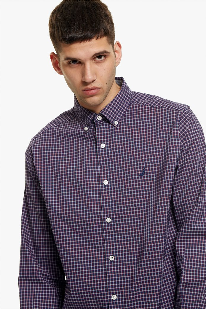 Nautica ανδρικό πουκάμισο μικρό καρό Classic fit 0