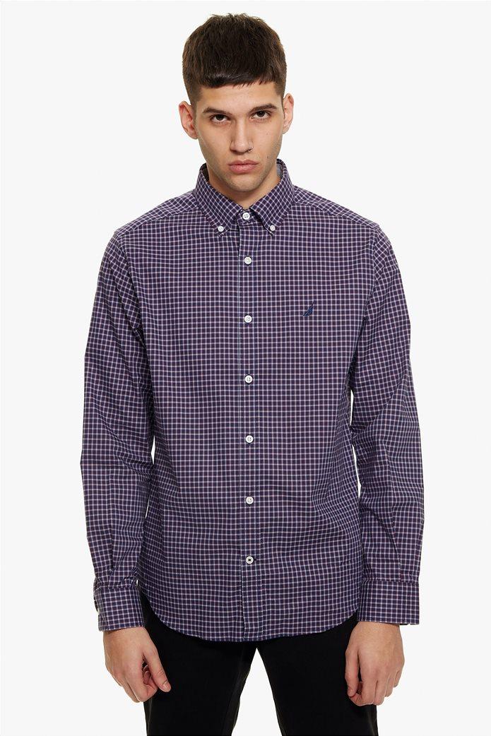 Nautica ανδρικό πουκάμισο μικρό καρό Classic fit 1