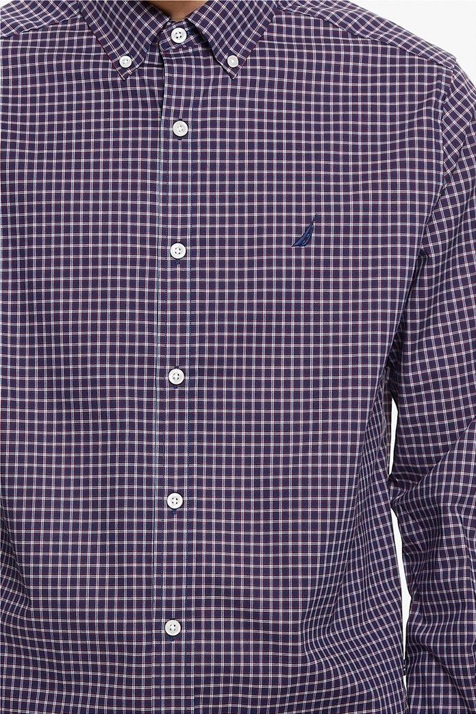 Nautica ανδρικό πουκάμισο μικρό καρό Classic fit 4