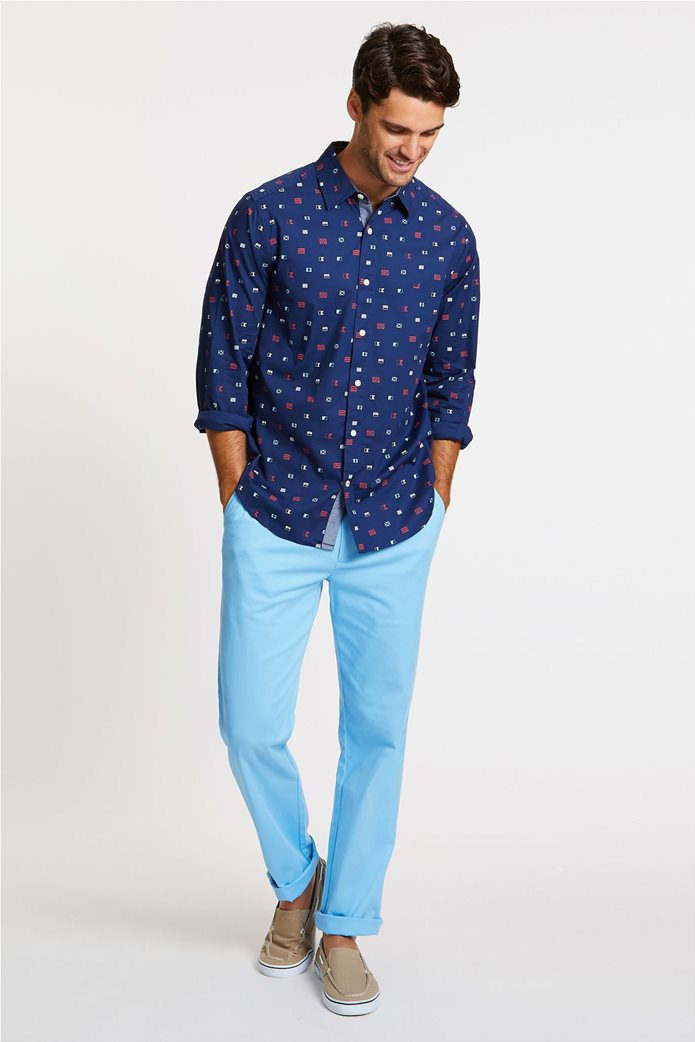 Nautica ανδρικό πουκάμισο μονόχρωμο με τσεπάκι 1