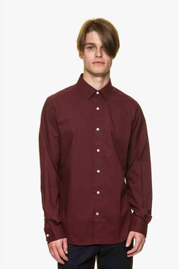 Nautica ανδρικό  πουκάμισο με πουά μικροσχέδιο 0