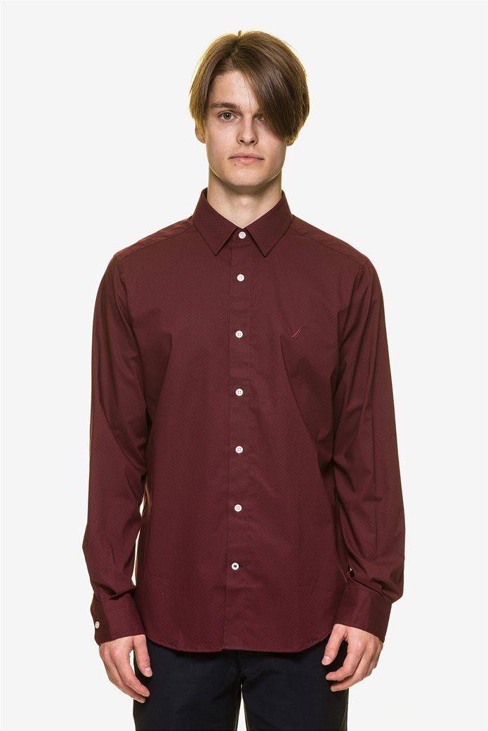 Nautica ανδρικό  πουκάμισο με πουά μικροσχέδιο 1