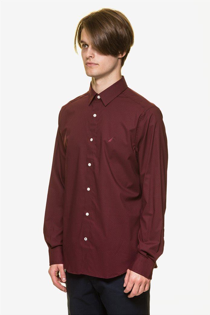 Nautica ανδρικό  πουκάμισο με πουά μικροσχέδιο 2