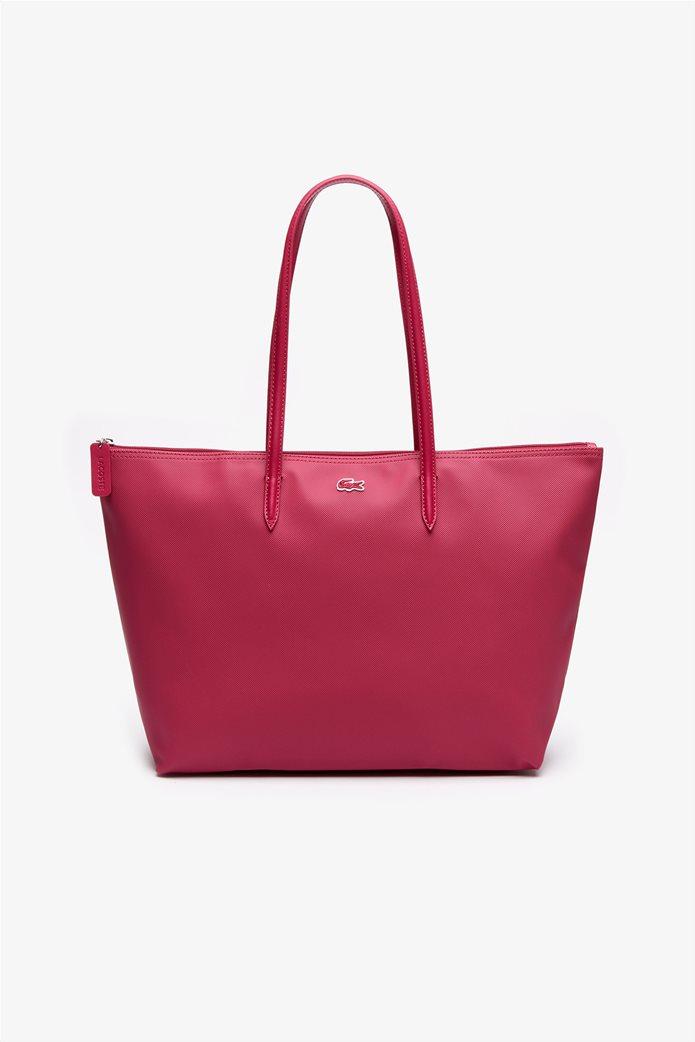 "Lacoste γυναικεία τσάντα ώμου ""Concept Zip Tote"" Μπλε Σκούρο 0"