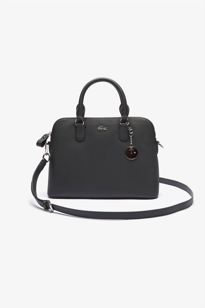 Lacoste γυναικεία τσάντα χειρός ''Piqué Bugatti'' Μαύρο 0