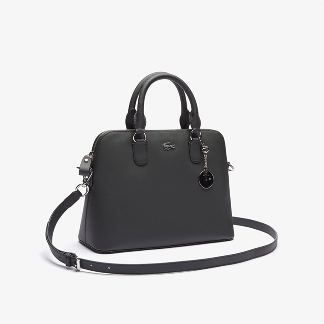 Lacoste γυναικεία τσάντα χειρός ''Piqué Bugatti'' Μαύρο 2