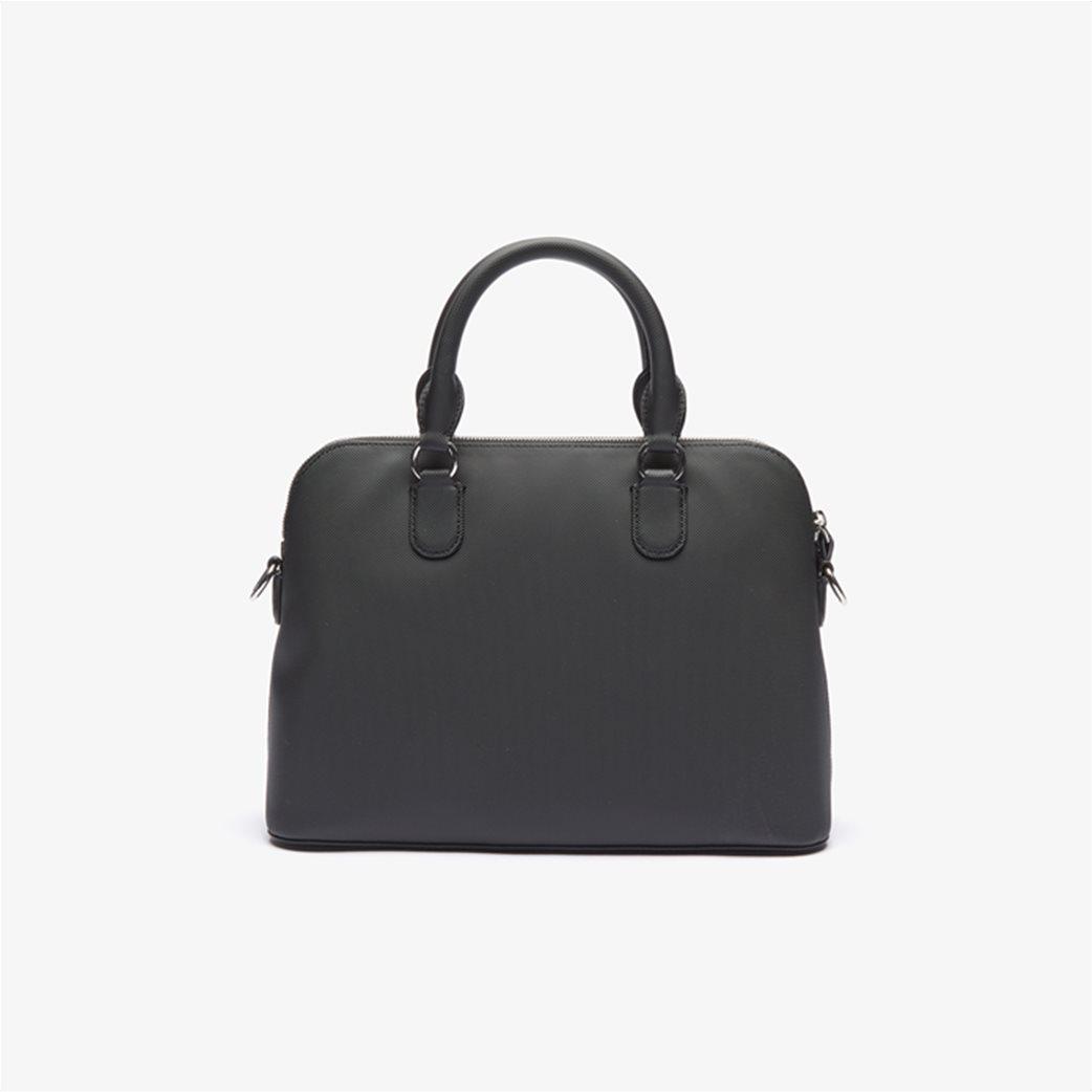 Lacoste γυναικεία τσάντα χειρός ''Piqué Bugatti'' Μαύρο 3
