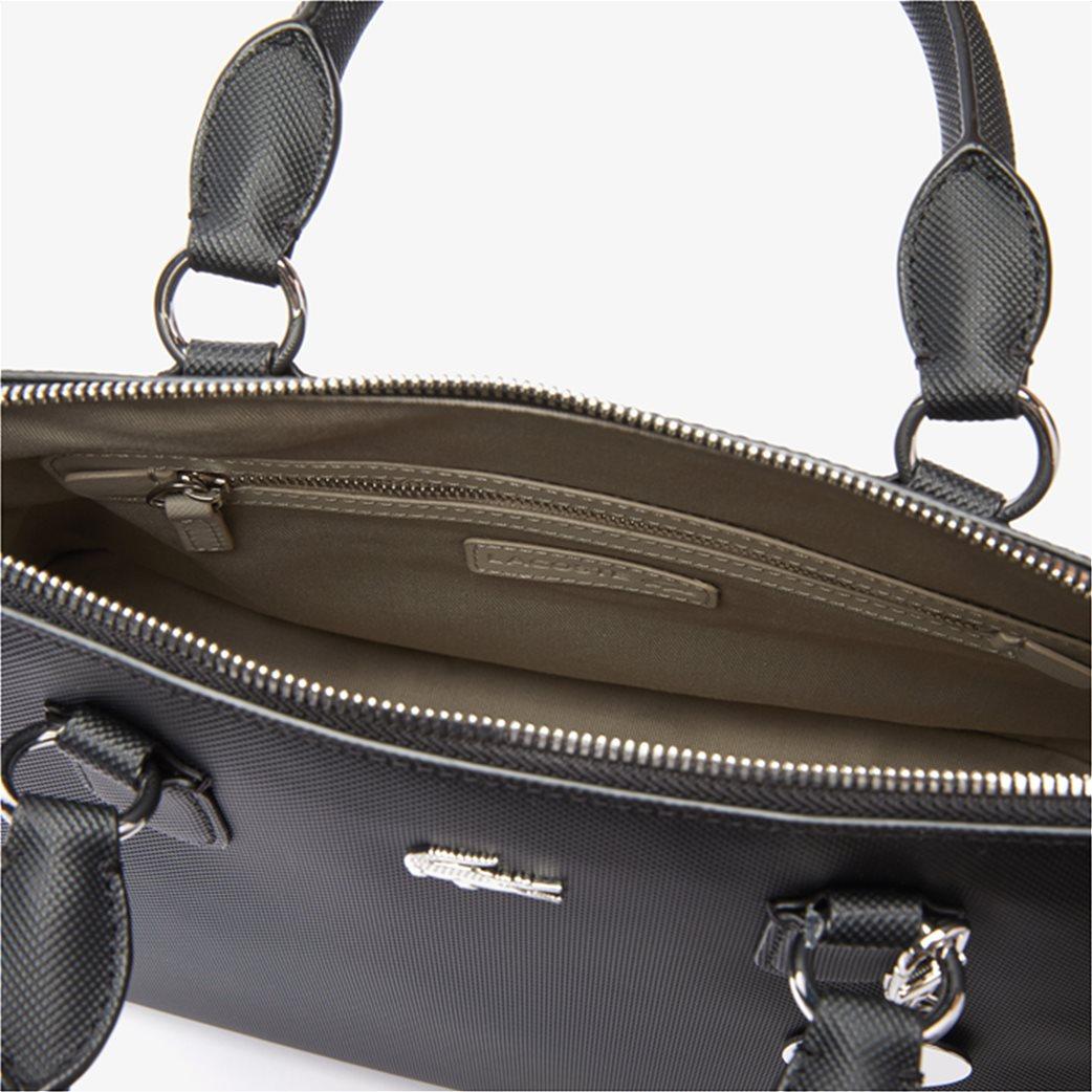 Lacoste γυναικεία τσάντα χειρός ''Piqué Bugatti'' Μαύρο 4