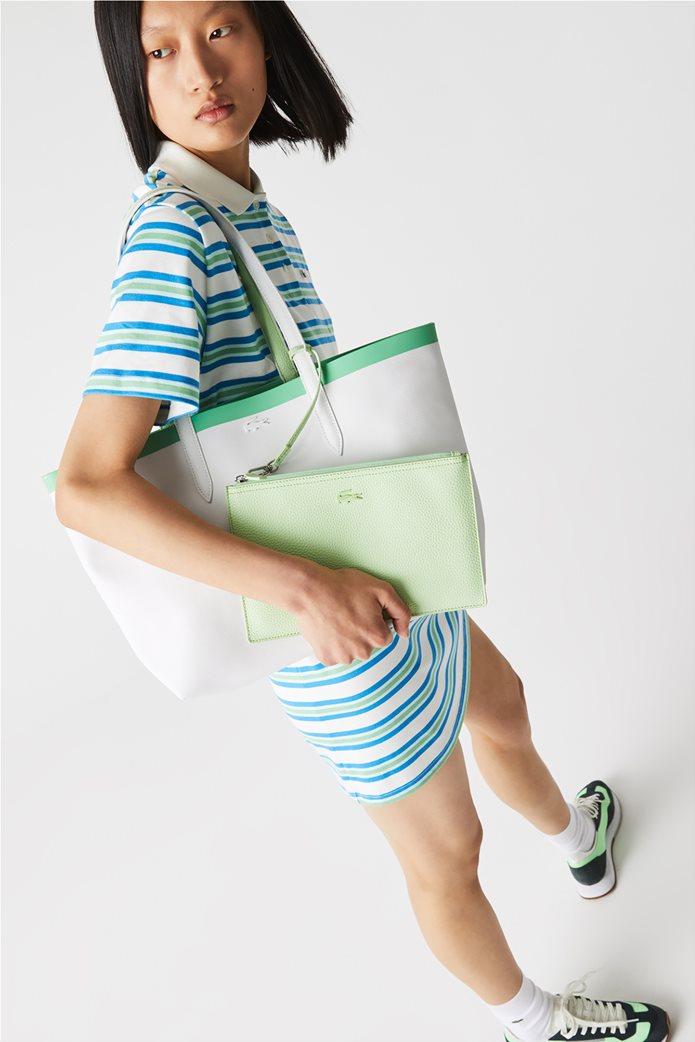 Lacoste γυναικεία τσάντα ώμου διπλής όψης με αποσπώμενο τσαντάκι 0