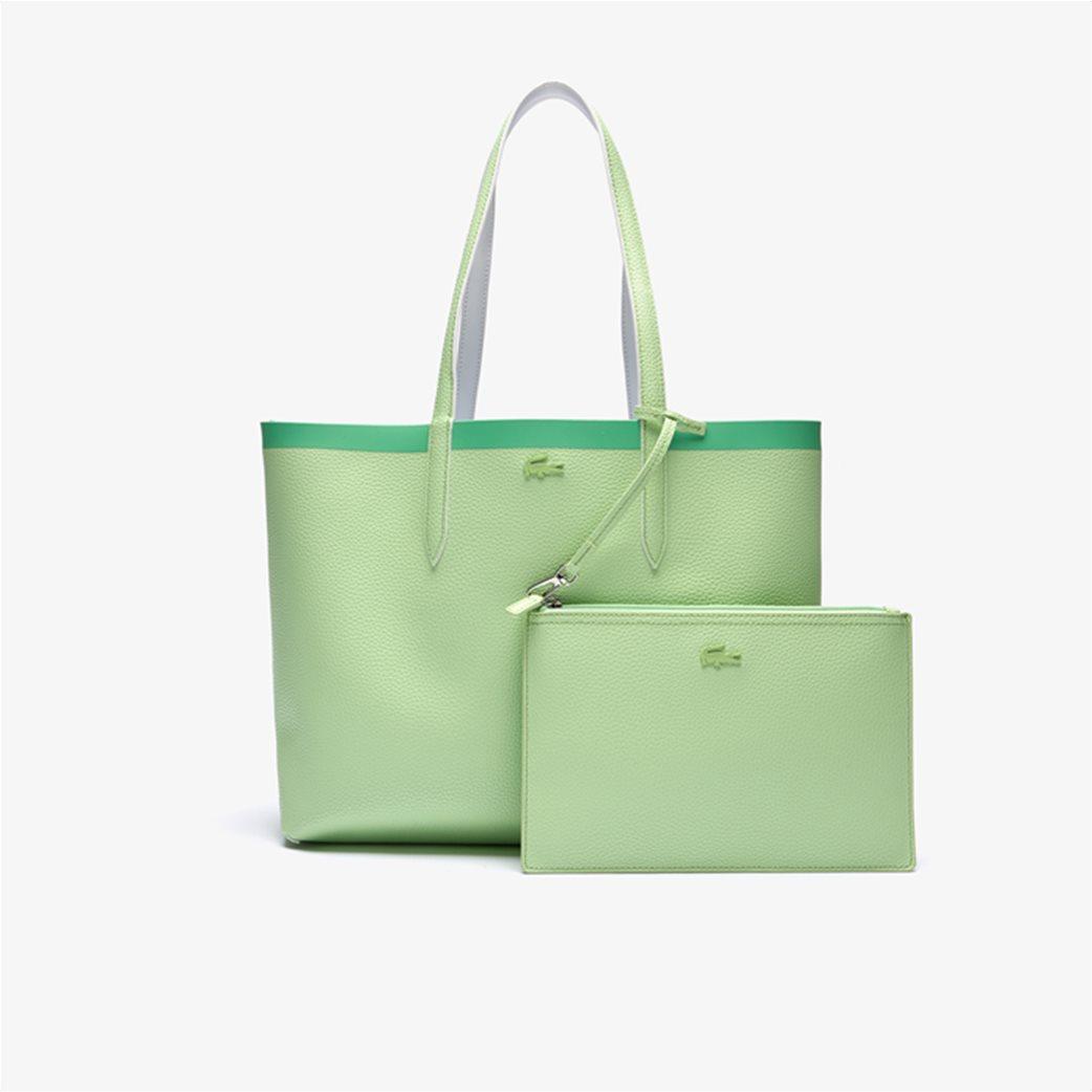 Lacoste γυναικεία τσάντα ώμου διπλής όψης με αποσπώμενο τσαντάκι 2