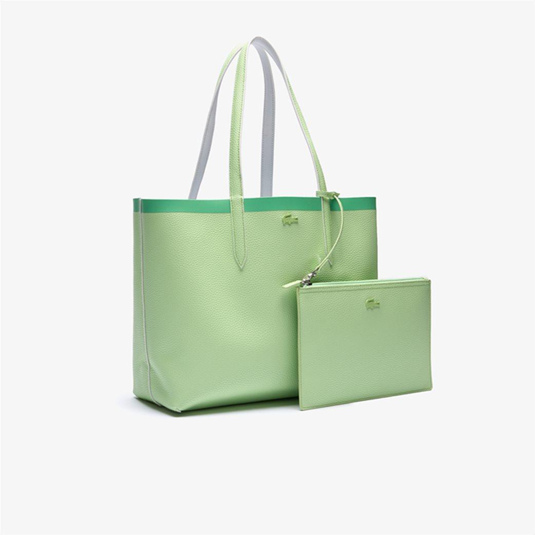Lacoste γυναικεία τσάντα ώμου διπλής όψης με αποσπώμενο τσαντάκι 4