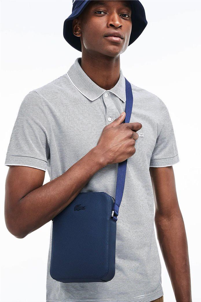Lacoste ανδρικό τσαντάκι με μεταλλικό λογότυπο 0