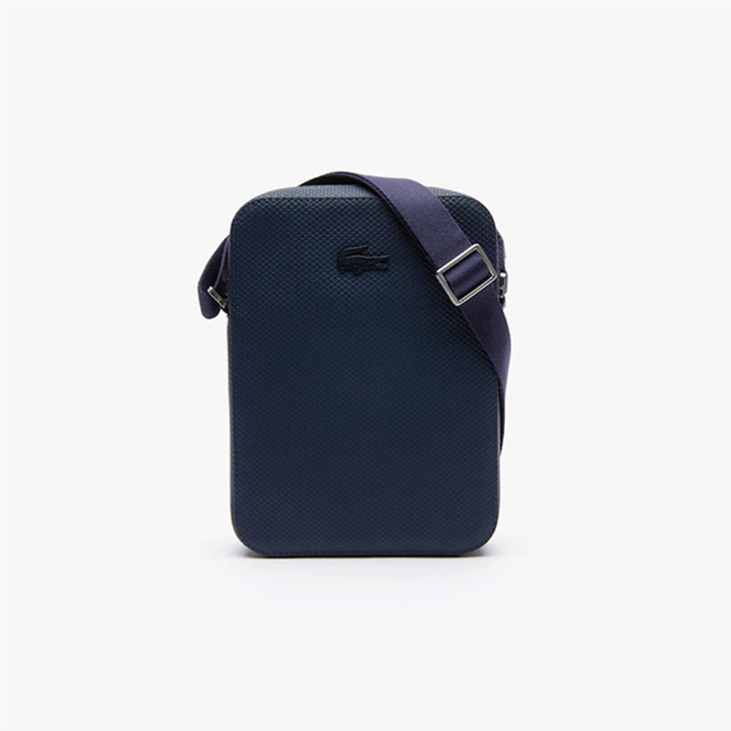 Lacoste ανδρικό τσαντάκι με μεταλλικό λογότυπο 1