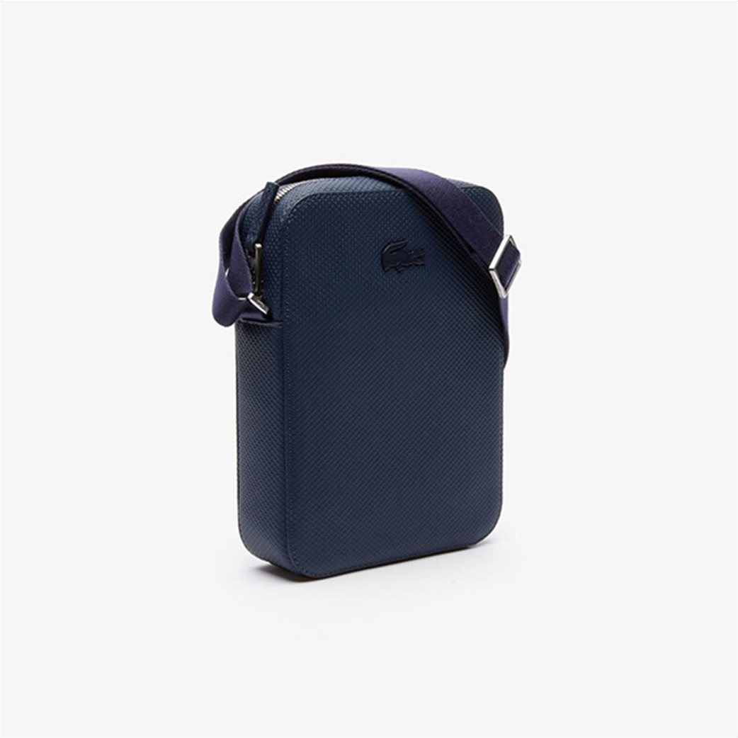 Lacoste ανδρικό τσαντάκι με μεταλλικό λογότυπο 2