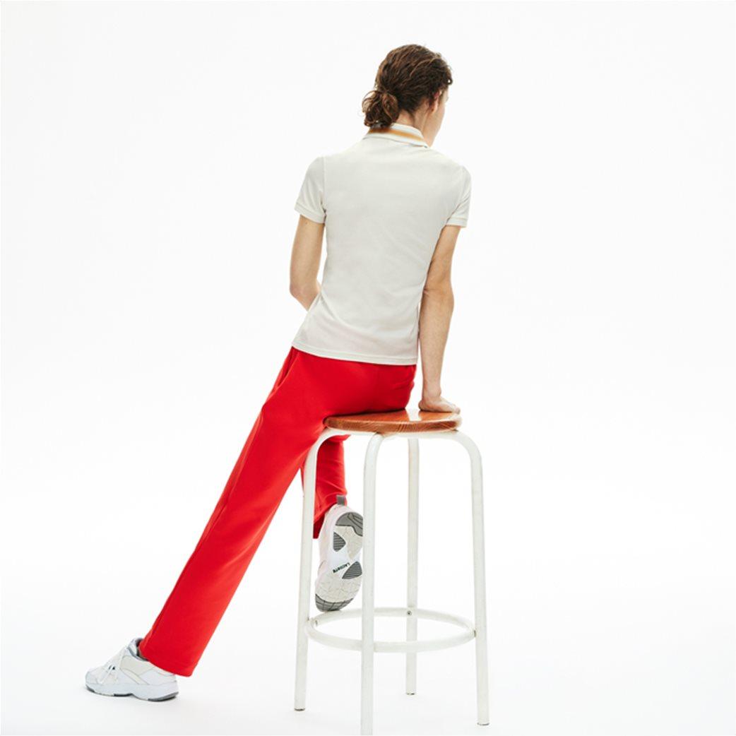 "Lacoste γυναικεία polo μπλούζα ""Contrast Stretch Cotton"" Εκρού 3"