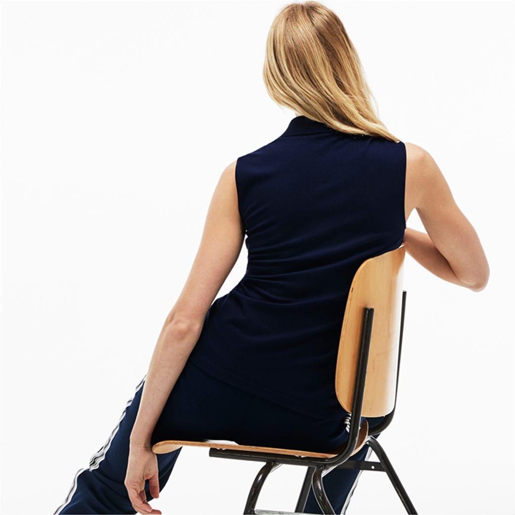 Lacoste γυναικεία μπλούζα πόλο πικέ αμάνικη 1