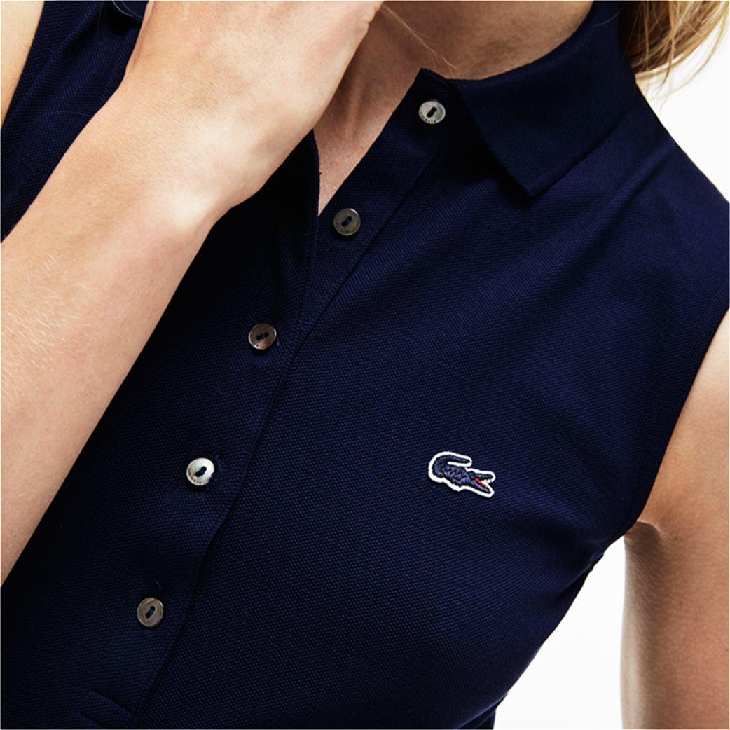 Lacoste γυναικεία μπλούζα πόλο πικέ αμάνικη 3
