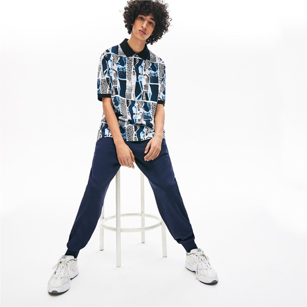 "Lacoste unisex polo μπλούζα ""Loose Fit Graphic Print"" Μπλε Σκούρο 1"