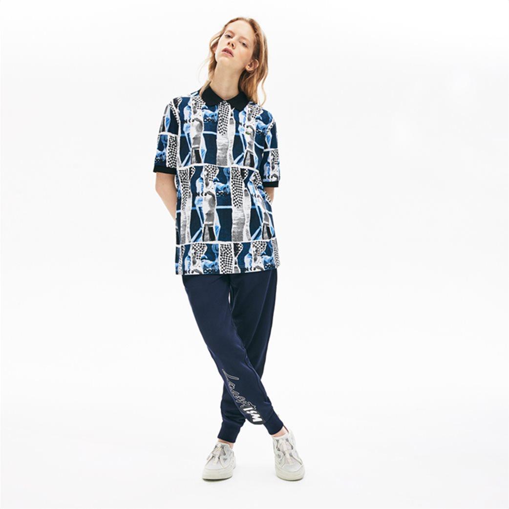 "Lacoste unisex polo μπλούζα ""Loose Fit Graphic Print"" Μπλε Σκούρο 2"