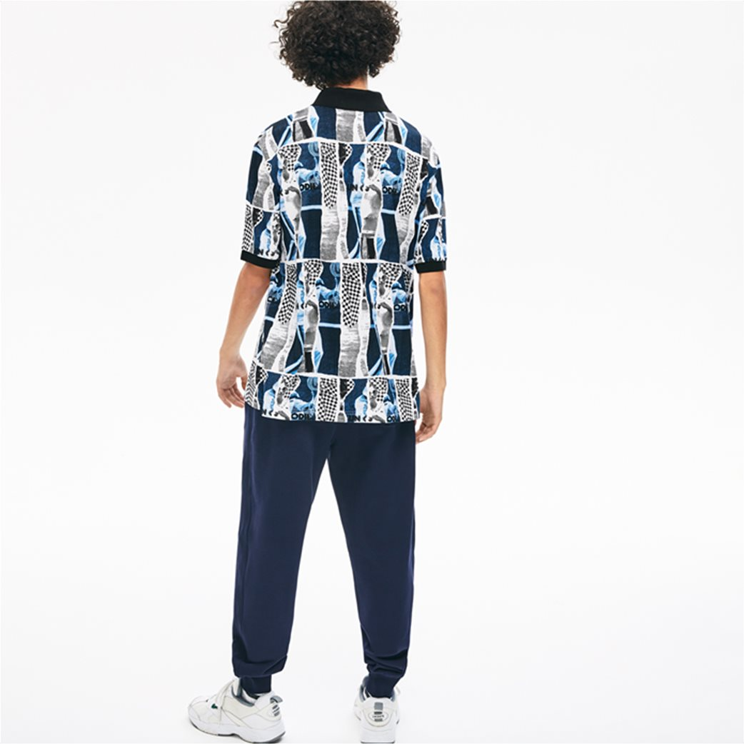 "Lacoste unisex polo μπλούζα ""Loose Fit Graphic Print"" Μπλε Σκούρο 3"