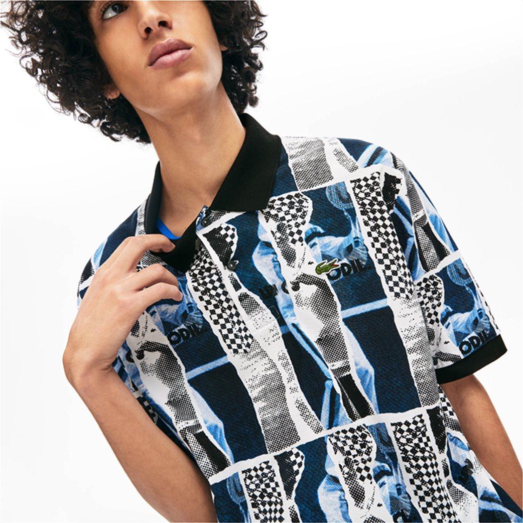 "Lacoste unisex polo μπλούζα ""Loose Fit Graphic Print"" Μπλε Σκούρο 5"