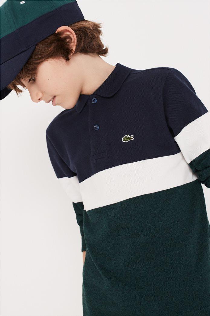 Lacoste παιδική πικέ polo μπλούζα Colorblock 0