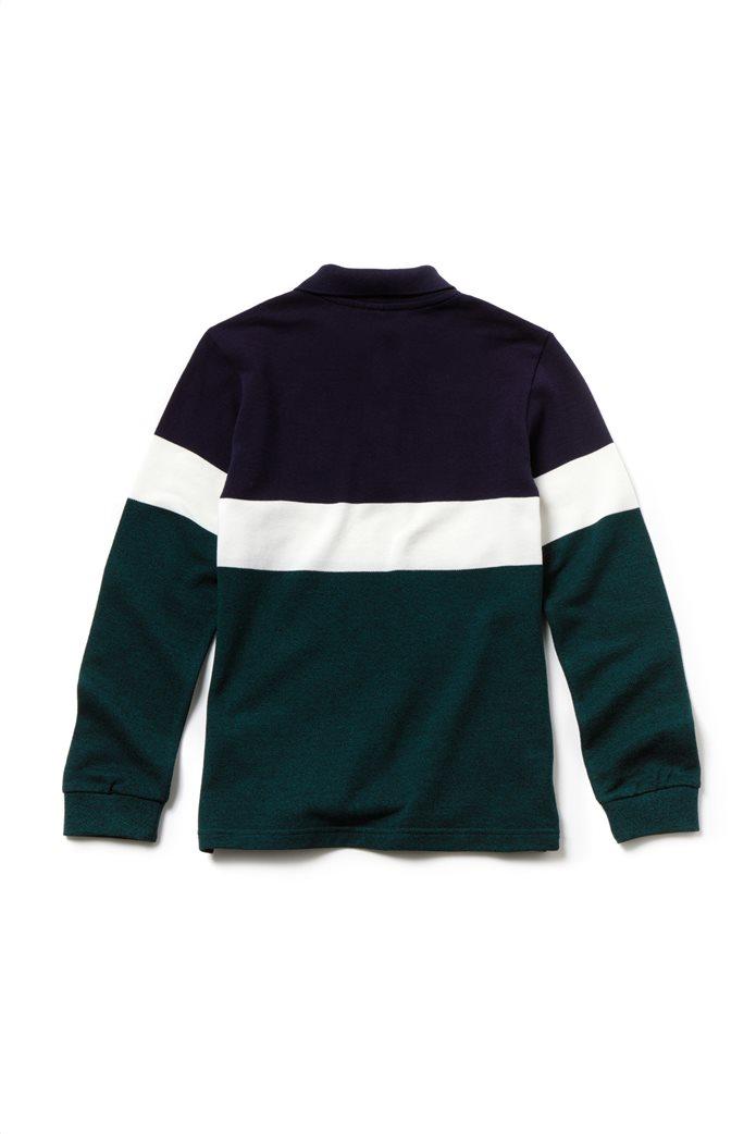 Lacoste παιδική πικέ polo μπλούζα Colorblock 3