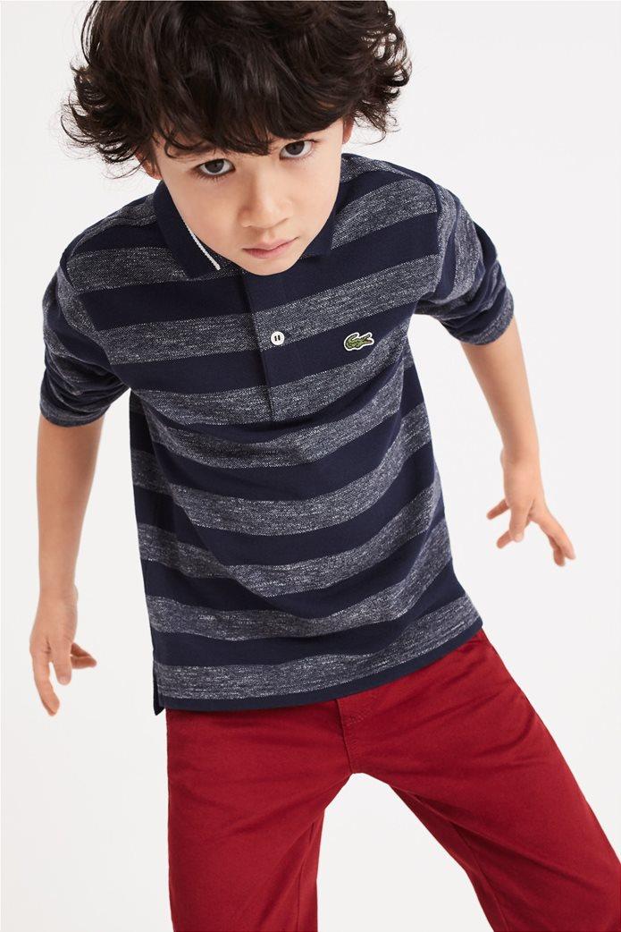 Lacoste παιδική ριγέ polo μπλούζα 0
