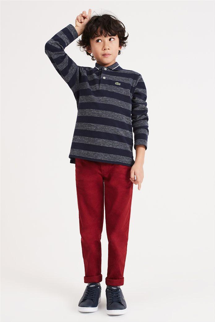 Lacoste παιδική ριγέ polo μπλούζα 1