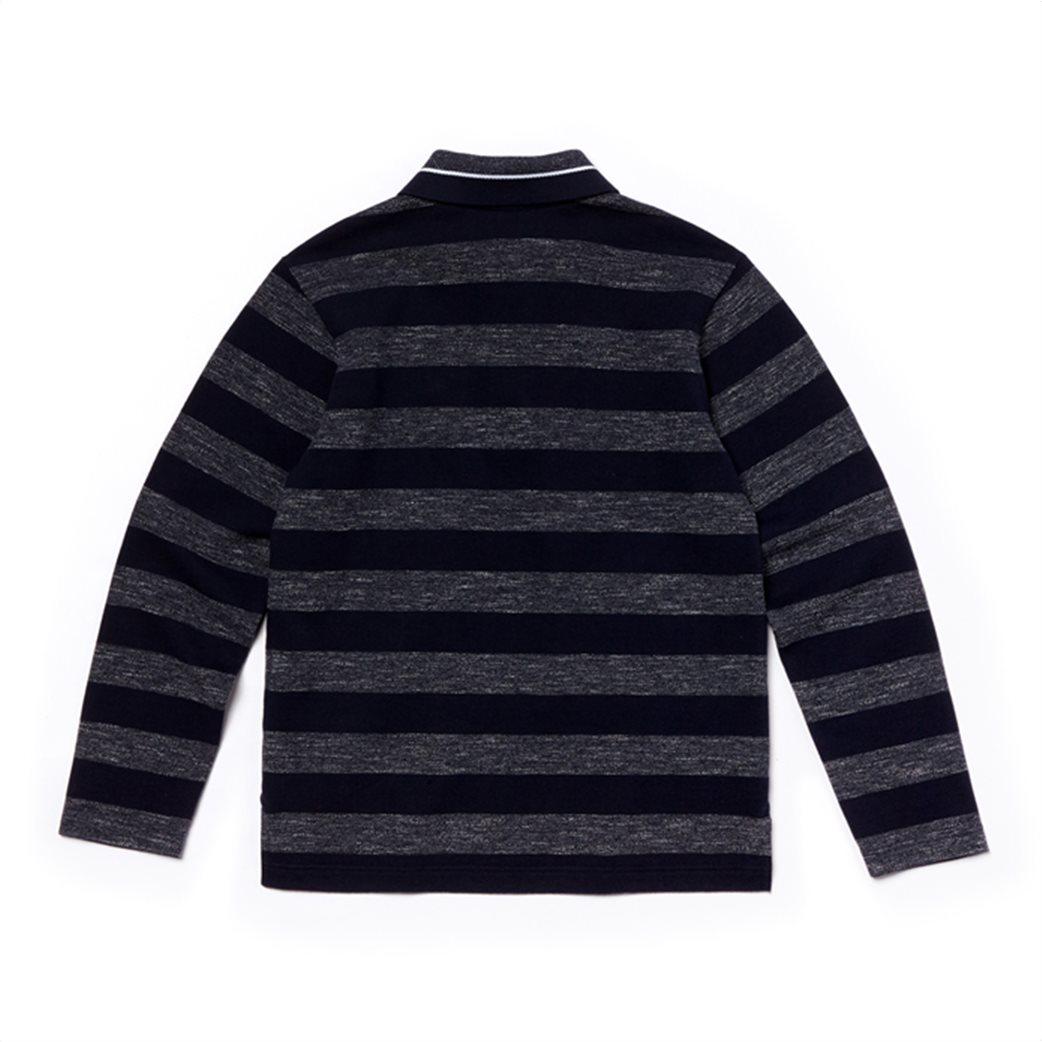 Lacoste παιδική ριγέ polo μπλούζα 3