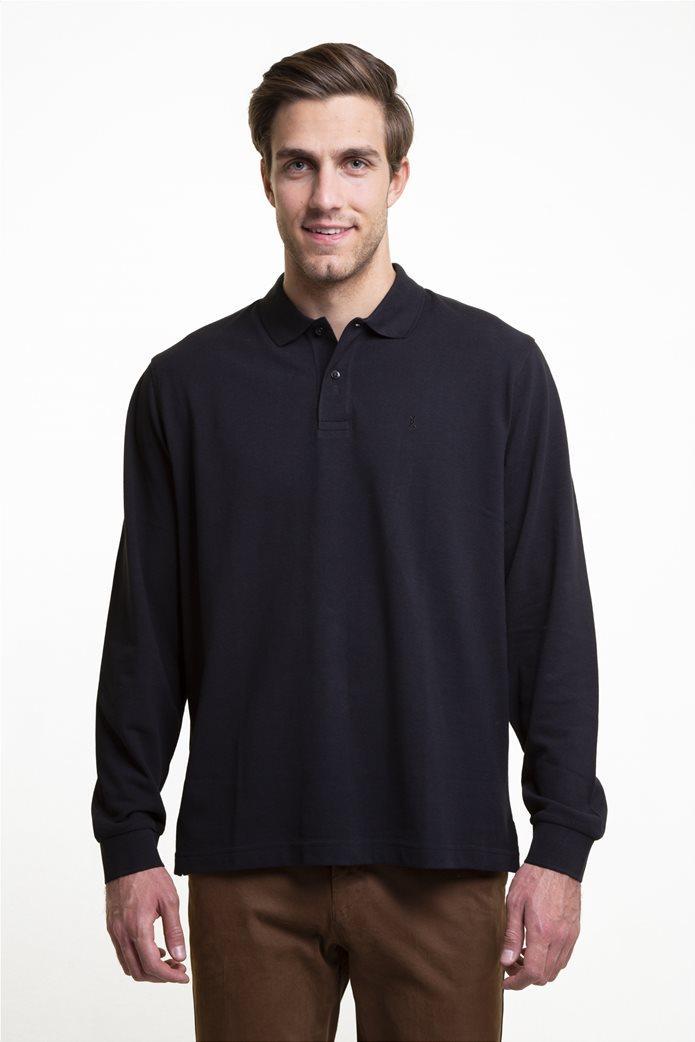 The Bostonians ανδρική μπλούζα πόλο μονόχρωμη 0