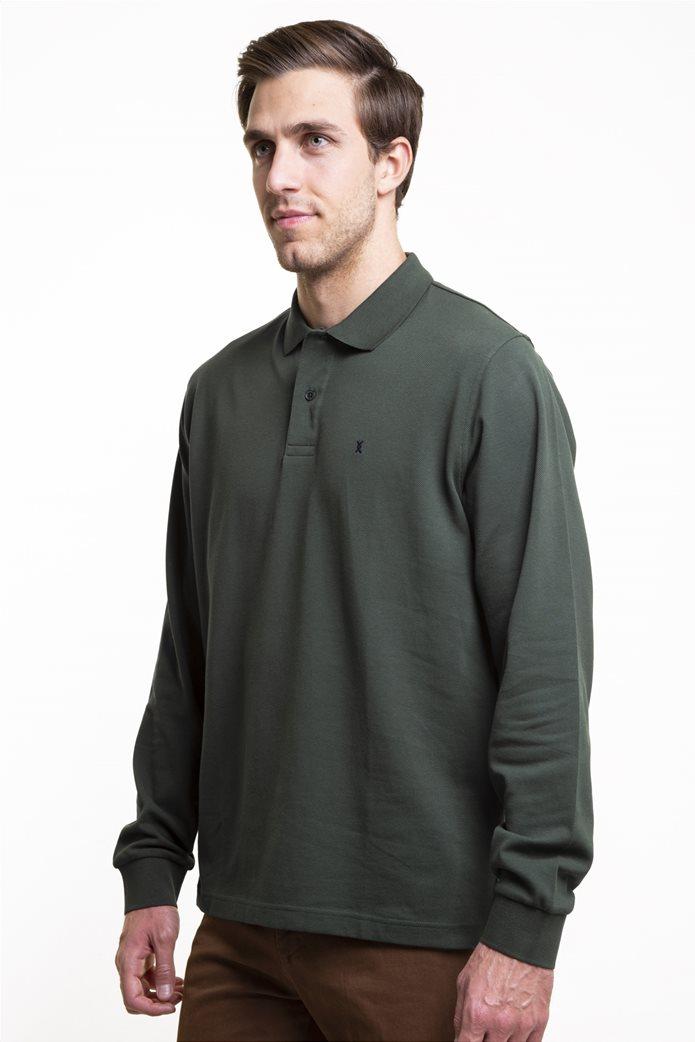 The Bostonians ανδρική μπλούζα πόλο μονόχρωμη 2